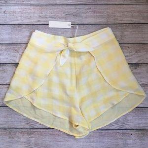 Capulet Yellow Gingham Shorts